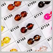 coated fire polished beads